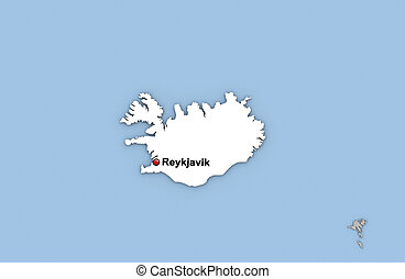 Iceland clip art and stock illustrations 5334 iceland eps iceland abstract 3d render of map of iceland highlighted gumiabroncs Images