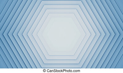 Abstract 3d rendering hexagons background.