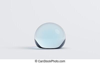 Abstract 3D Rendering of Water Drop