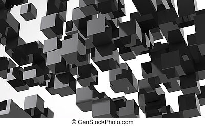 Abstract 3d rendering on white background