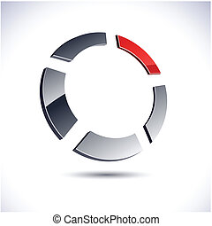 Abstract 3d ring icon.