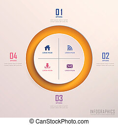 abstract 3d ring infographics