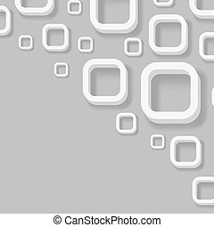 Abstract 3D rounded corner squares vector background.