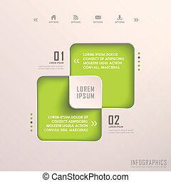 abstract 3d square infographics