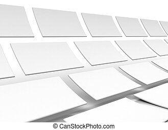 Abstract 3d squares on white background