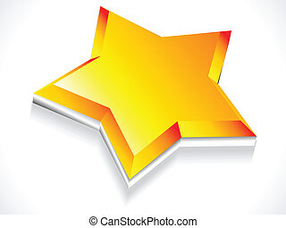 abstract 3d star icon vector