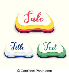 abstract 3d style sale symbol design