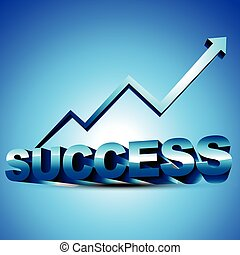 abstract 3d success design