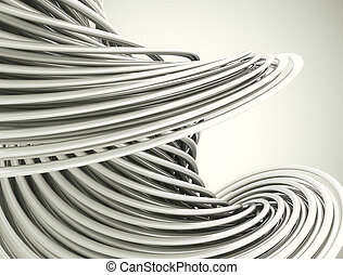 Abstract 3d swirl