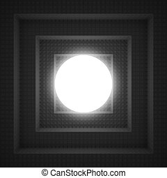 Abstract 3D Technology Background With Light Sphere.