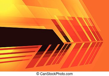Abstract 3d technology lines with light, arrow  backgound.