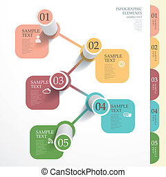 abstract 3d tube bar chart infographics
