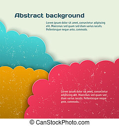 Abstract 3d vector background. Clouds form.