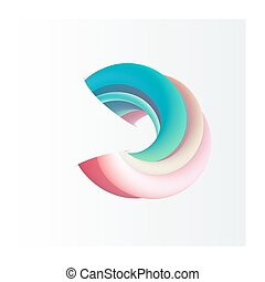 Abstract 3d vector shape - Vector abstract shape in 3d...