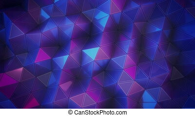 Abstract 3D visualization of a geometric low-poly ultraviolet surface.