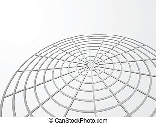Abstract 3D web vector background with copy space.