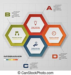 Abstract 4 steps infographics. - Abstract 4 steps...