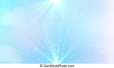 Abstract 4K Loop motion background shining silver Shimmering Glittering Particles With Bokeh.