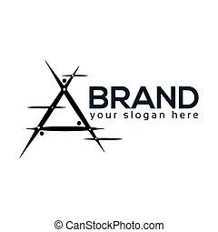 Abstract A Logo. flat design. Vector Illustration on white background