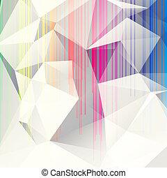 abstract, achtergrond, driehoeken, veelkleurig