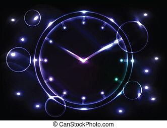 abstract, achtergrond, klok