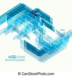 abstract, achtergrond, met, blauwe strepen, corner.