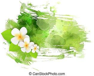 abstract, achtergrond, met, bloemen