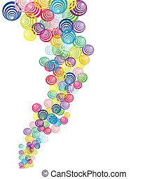 abstract, achtergrond, met, gekleurde, abstract, cirkels