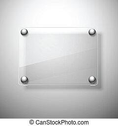abstract, achtergrond, met, glas, framework., vector,...