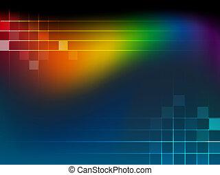 abstract, achtergrond, met, regenboog, wa
