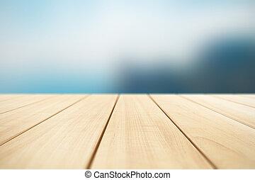 abstract, achtergrond, met, van hout grondslagen, buitenshuis