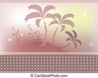 abstract, achtergrond, palmen