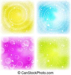 abstract, achtergrond, set, kleurrijke