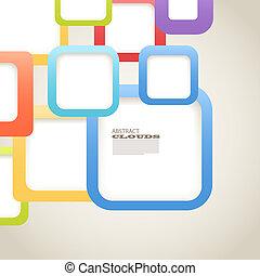 abstract, achtergrond, van, kleur, dozen, met, leeg, gebied,...