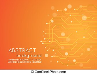 abstract, achtergrond., vector, circuit plank, technologie