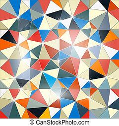 abstract, achtergrond, vector, driehoek
