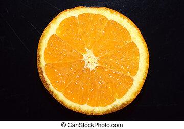 abstract, achtergrond., zwarte achtergrond, sinaasappel, ontwerp, jouw