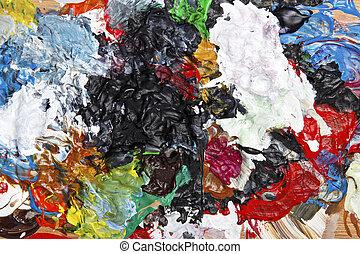abstract, acryl, geverfde, achtergrond
