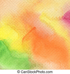 Abstract acrylic and watercolor painted background. Paper ...