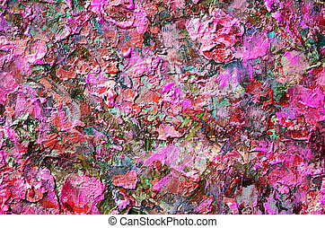 abstract acrylic red hand painted background