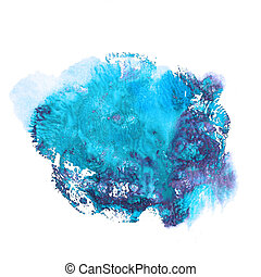 Abstract acrylic spot on white background.