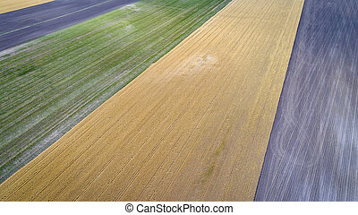 abstract aerial view of rural Nebraska