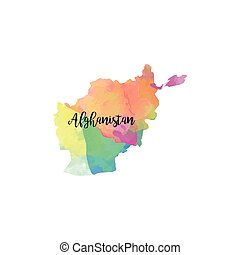 Abstract Afghanistan map