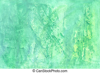 Abstract aguarelle  green  background  for scrapbooking and othe