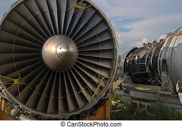 Abstract airplane engine - Abstract detail of an airplane...
