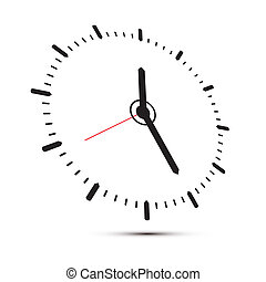 Abstract Alarm Clock Illustration Isolated on White Background