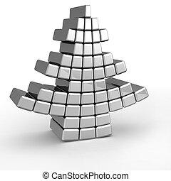 Abstract aluminum christmas tree
