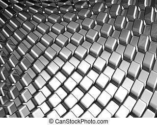 Abstract aluminum dynamic cube background