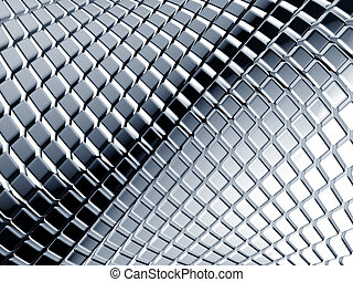 Abstract aluminum square background