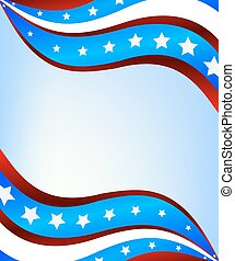 Abstract American flag background f
